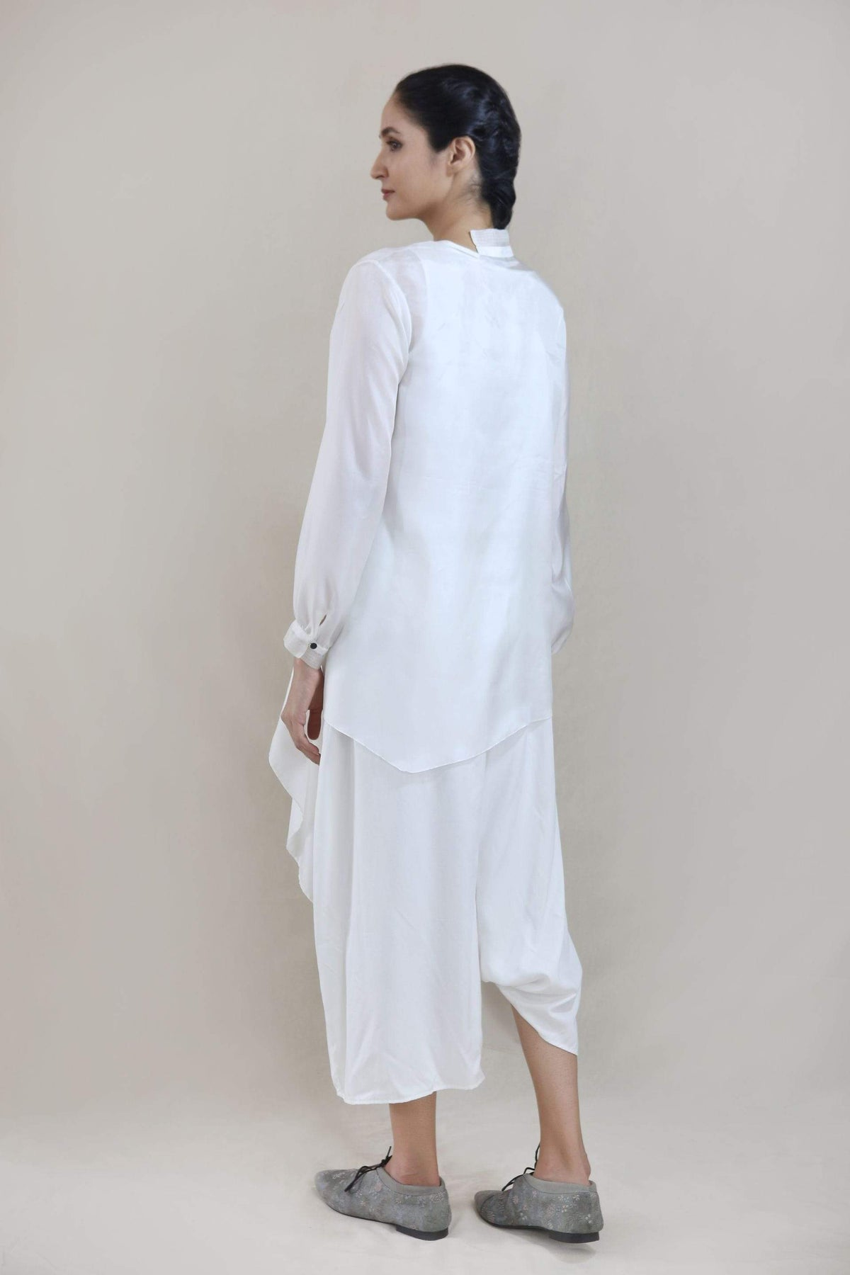 Integument Shirts & Tops Ivory drape top