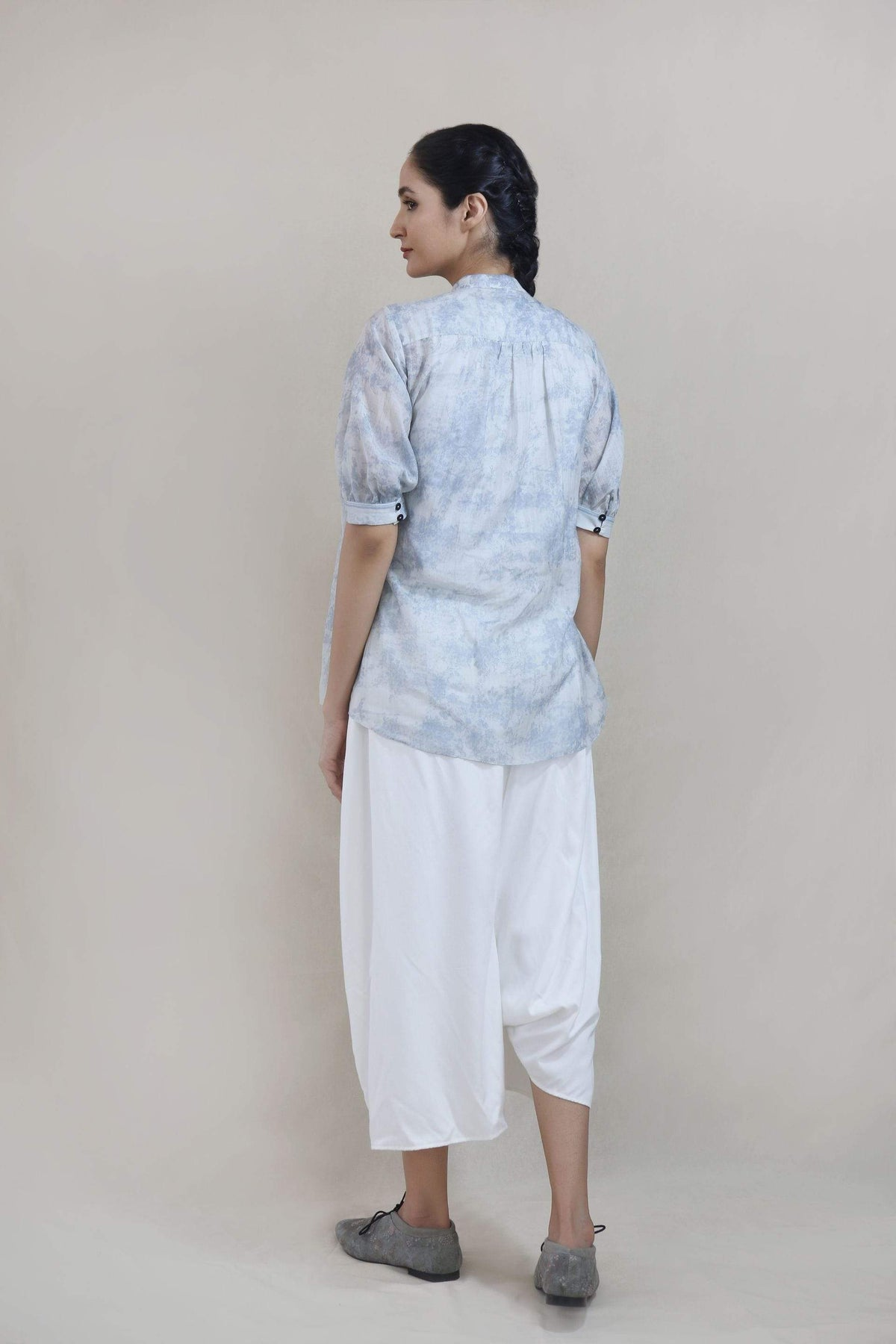 Integument Shirts & Tops Pleated asymetric chanderi shirt