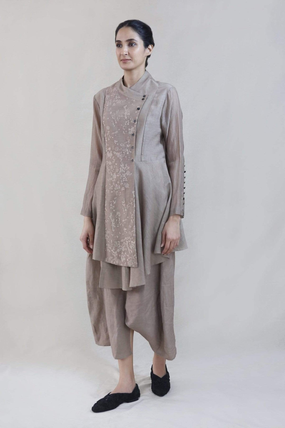 Integument Tunics Embroidered asymmetric tunic