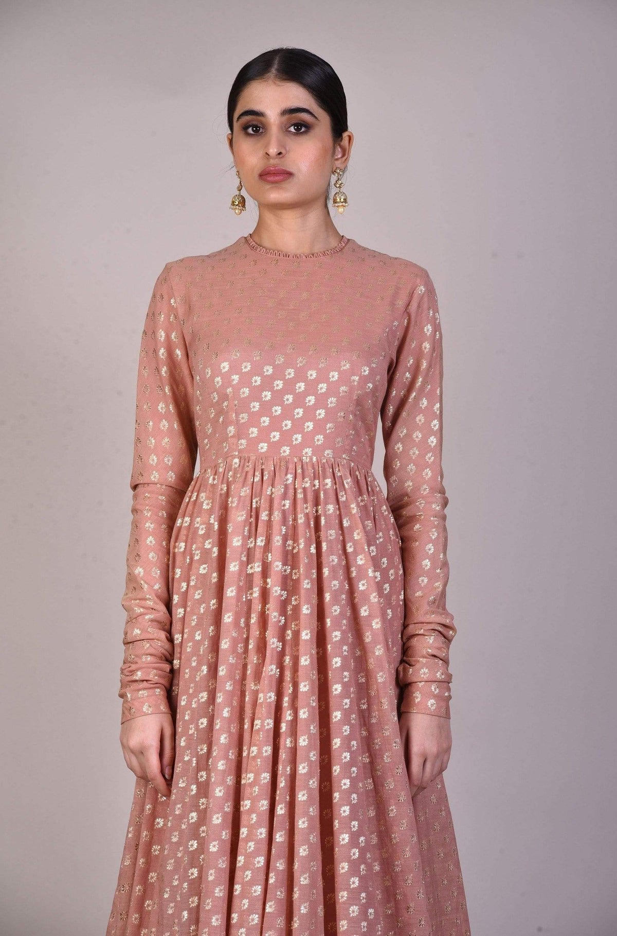 Jayanti Reddy Anarkalis Embroidered blush pink chanderi anarkali