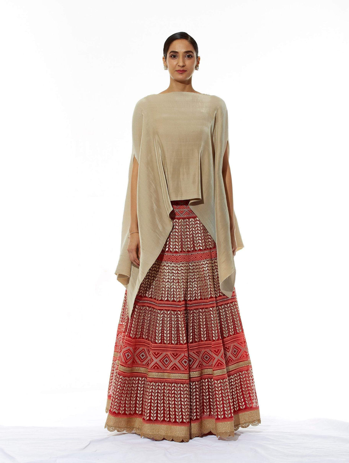 Kavita Bhartia Light Lehengas Cape with embroidered lehenga
