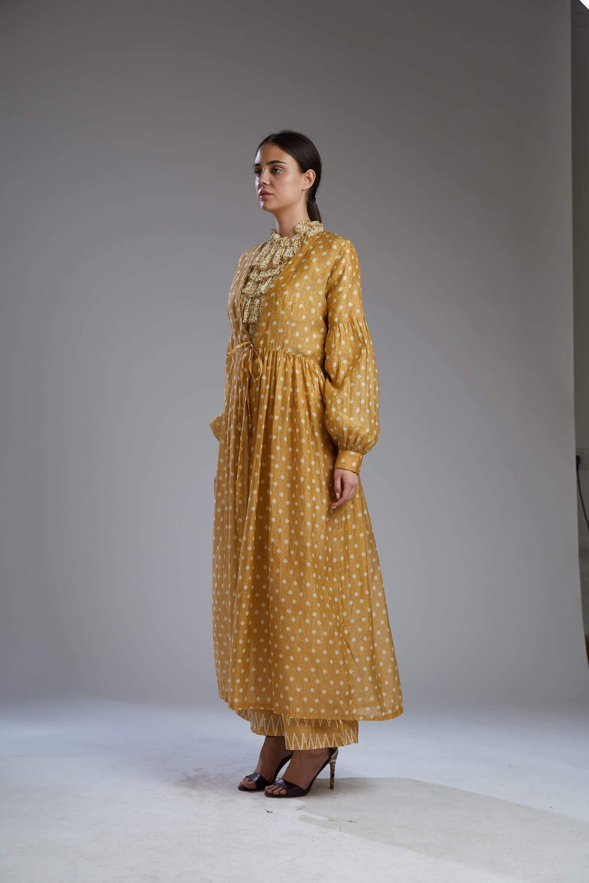Koai Capes Yellow with white polka dots cape