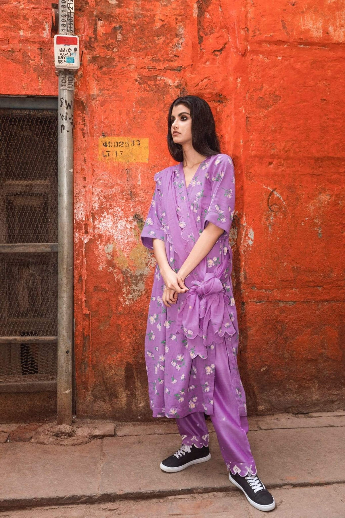 Label Earthen Kurtas Lavender mal kurta set