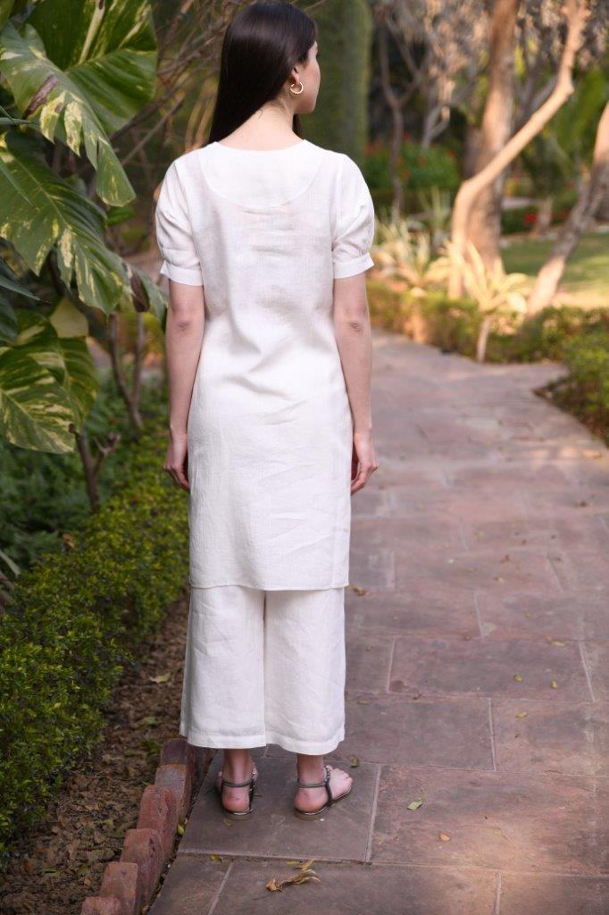 Linen Bloom Bottoms Wide pants with lining
