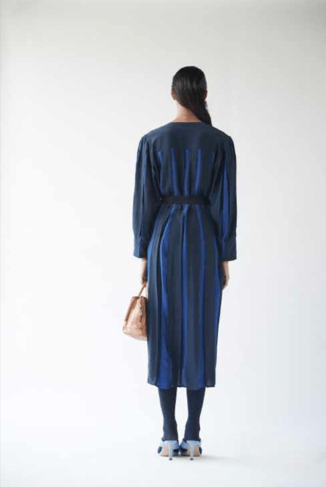 Lovebirds Dresses Linear navy dress