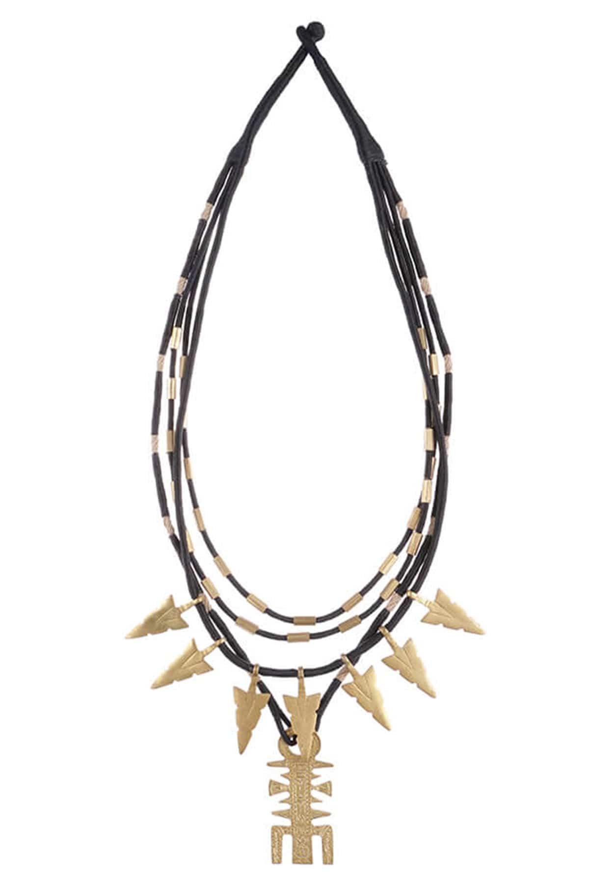 Mayabazaar Jewellery Arrowhead multi-strand necklace