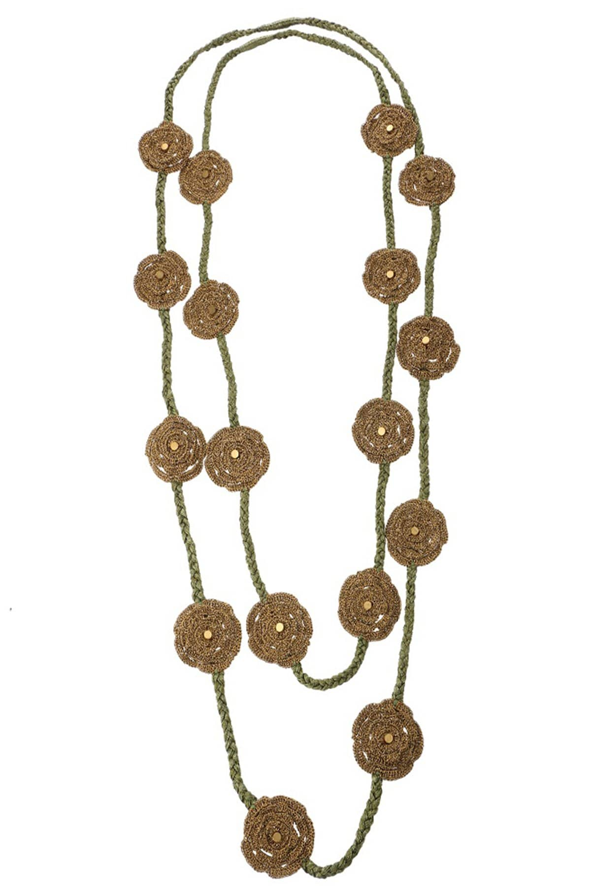 Mayabazaar Jewellery Metallic toned rose necklace