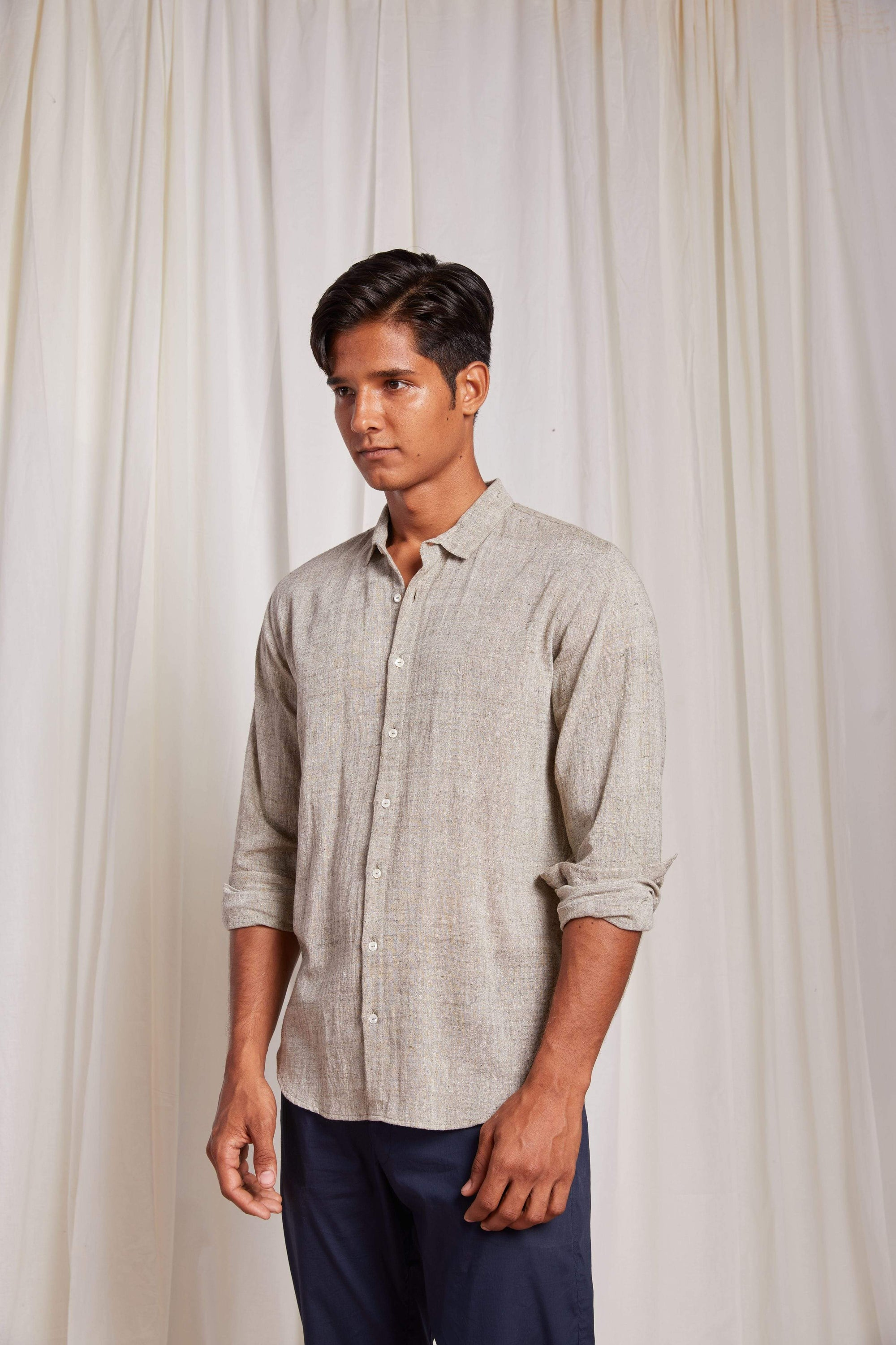 Naushad Ali Mens Shirts Kala Cotton Good Fella Shirt