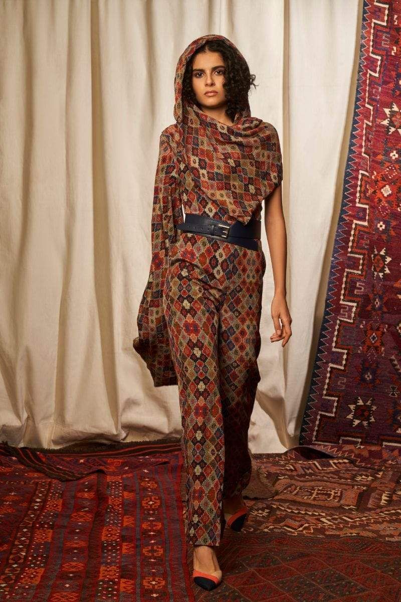Nikita Mhaisalkar Bottoms Brick printed pants