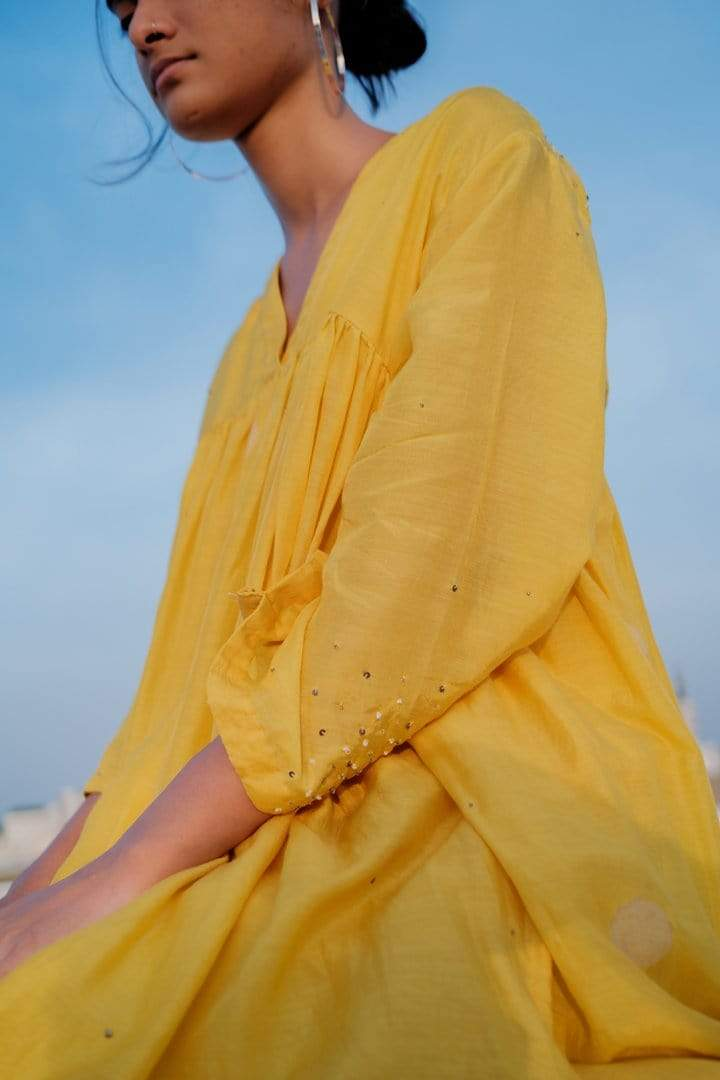 Nirjara Shirts & Tops Mustard yellow ay top