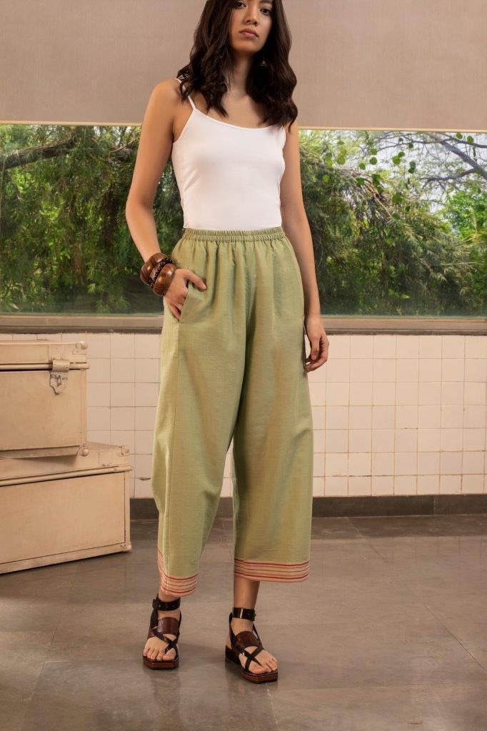 Payal Pratap Bottoms Alberta pants in green