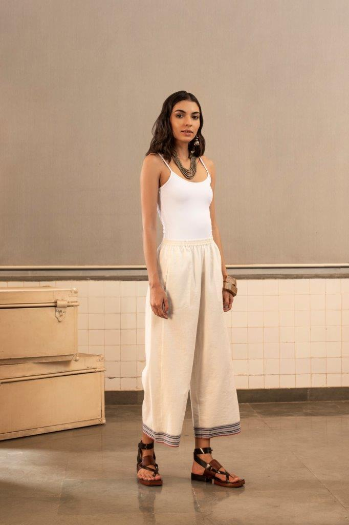 Payal Pratap Bottoms Off- white alberta pants