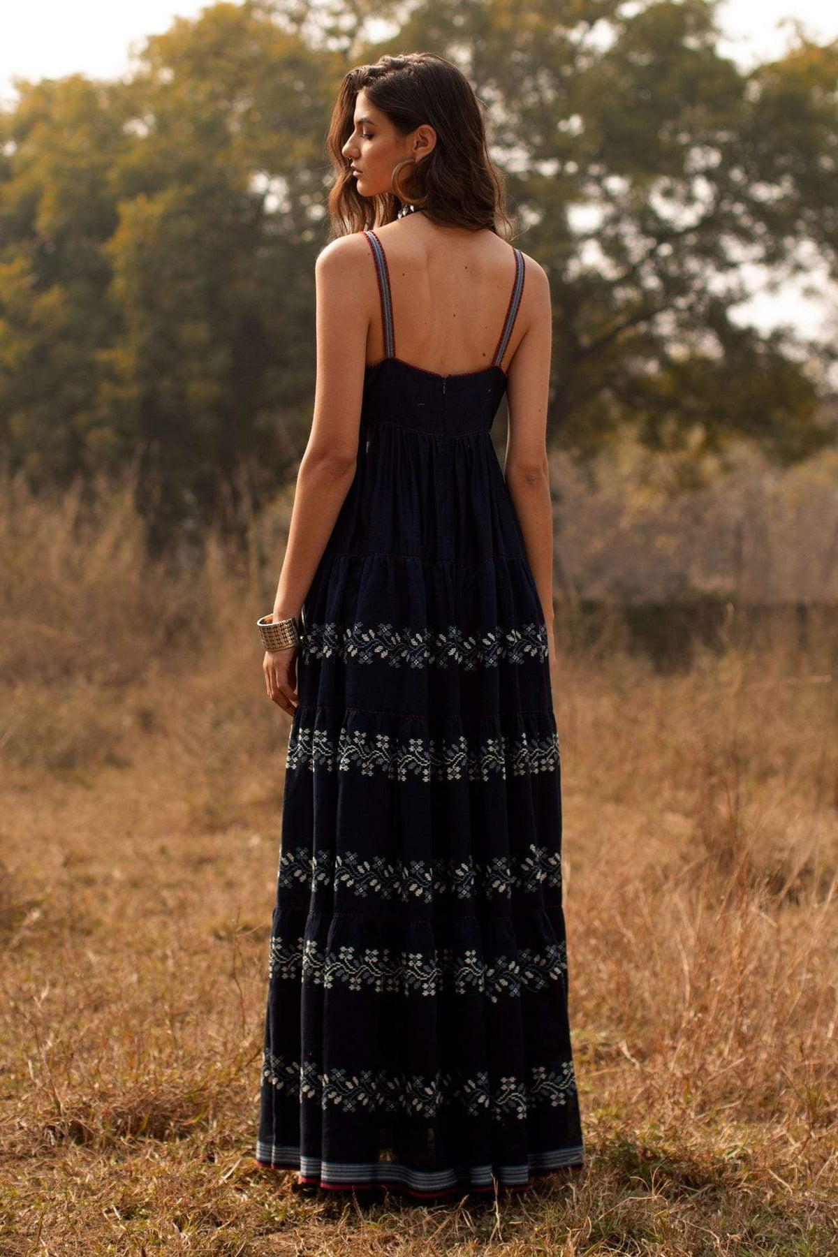 Payal Pratap Dresses Navy dianne strappy maxi