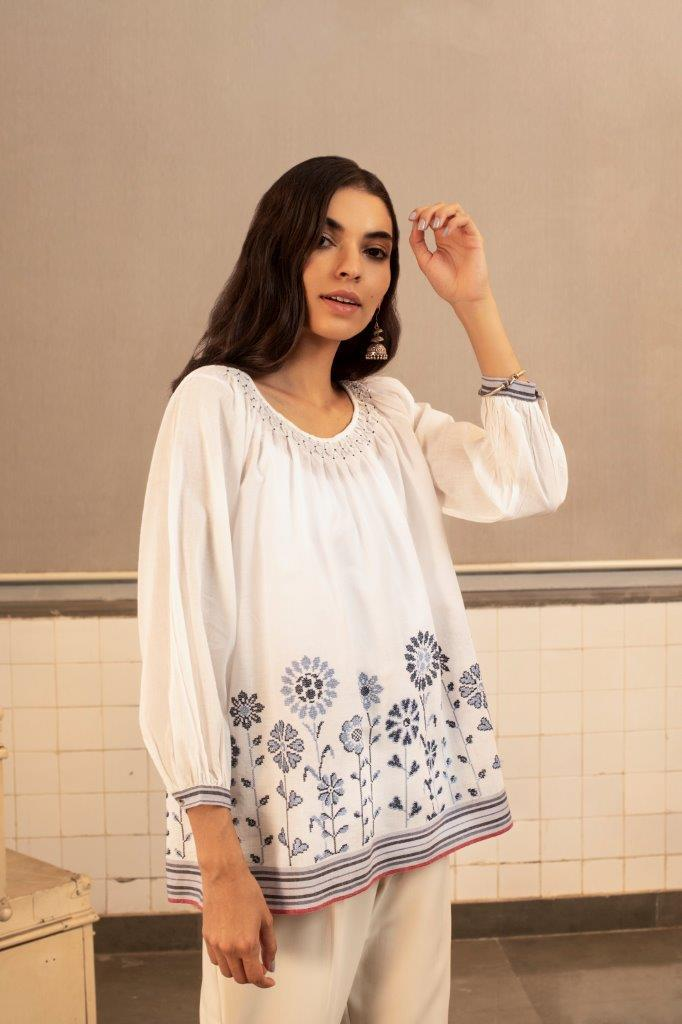 Payal Pratap Shirts & Tops Metheny embroidered top