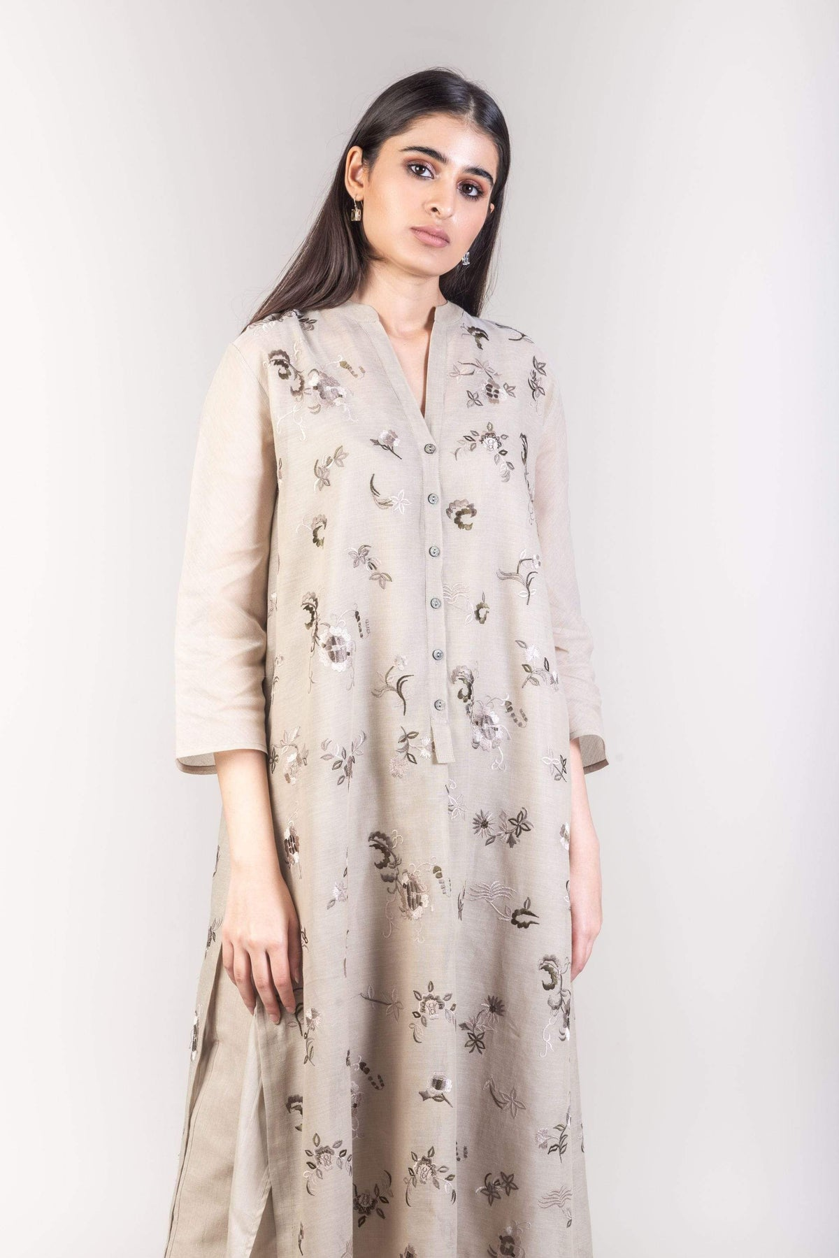 Peachoo Tunics Cotton embroidered tunic