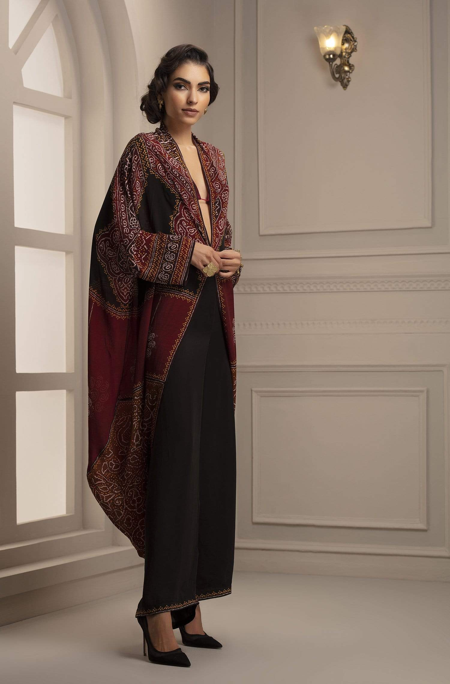 Rajdeep Ranawat Co-ordinated sets Printed coverup with palazzo