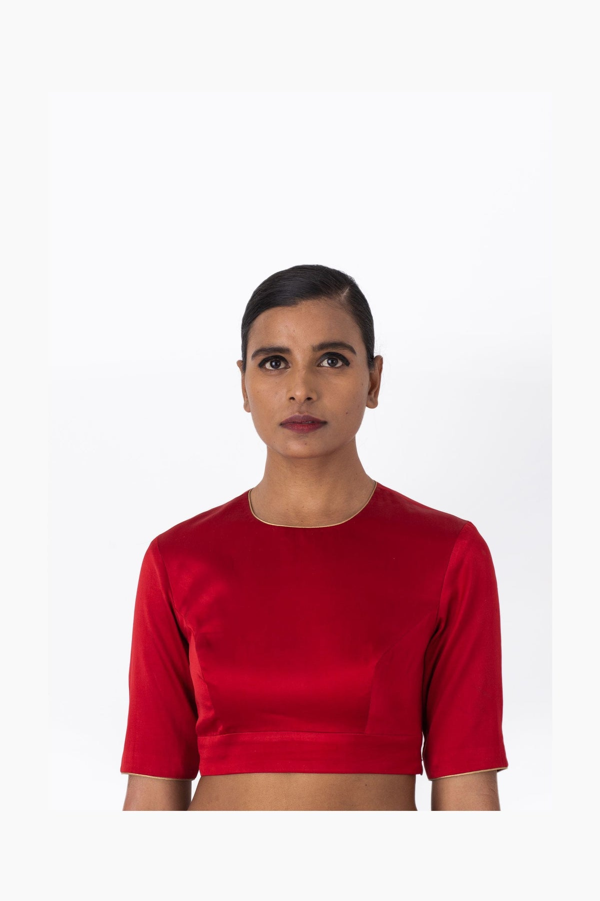 Raw Mango Blouses Nohar red silk blouse