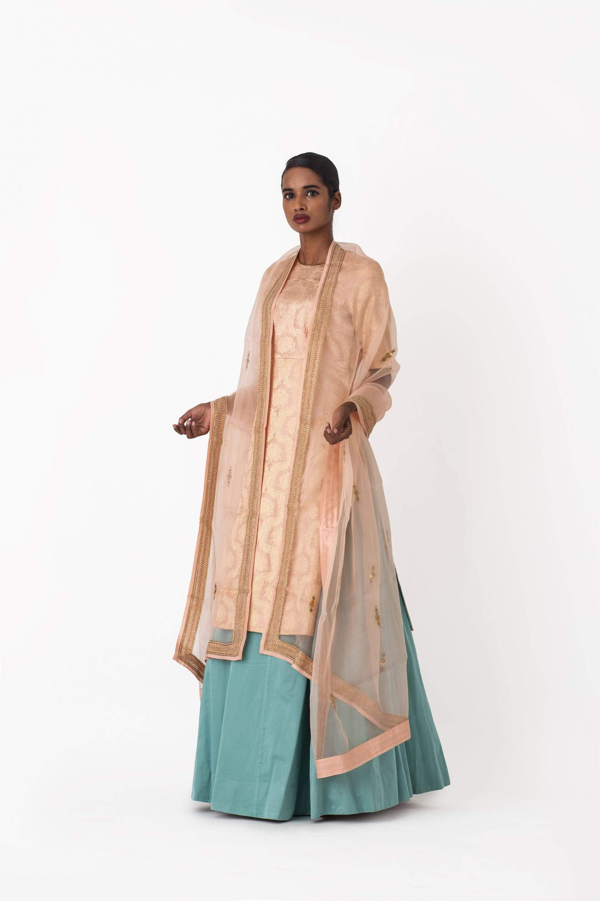 Raw Mango Light Lehengas Goyli & Aftab kurta lehenga set
