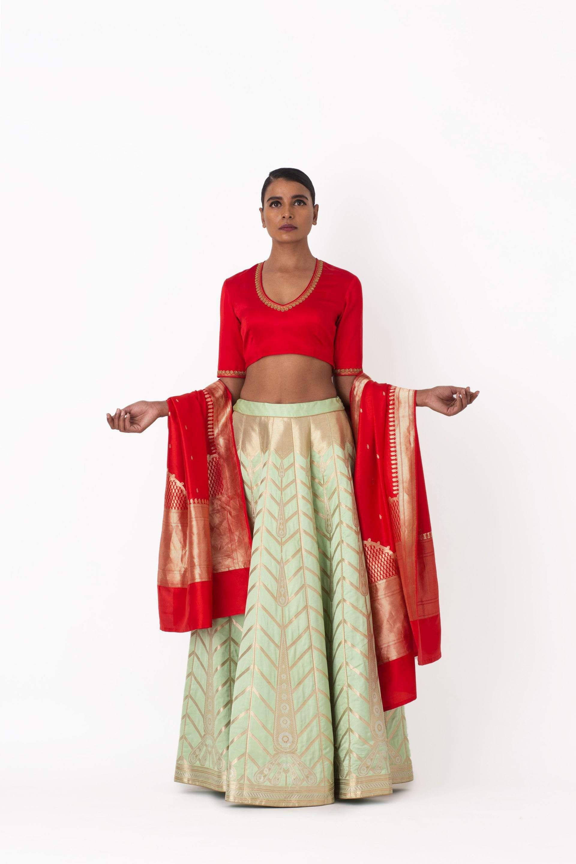 Raw Mango Light Lehengas Mansoor & Hakim lehenga set