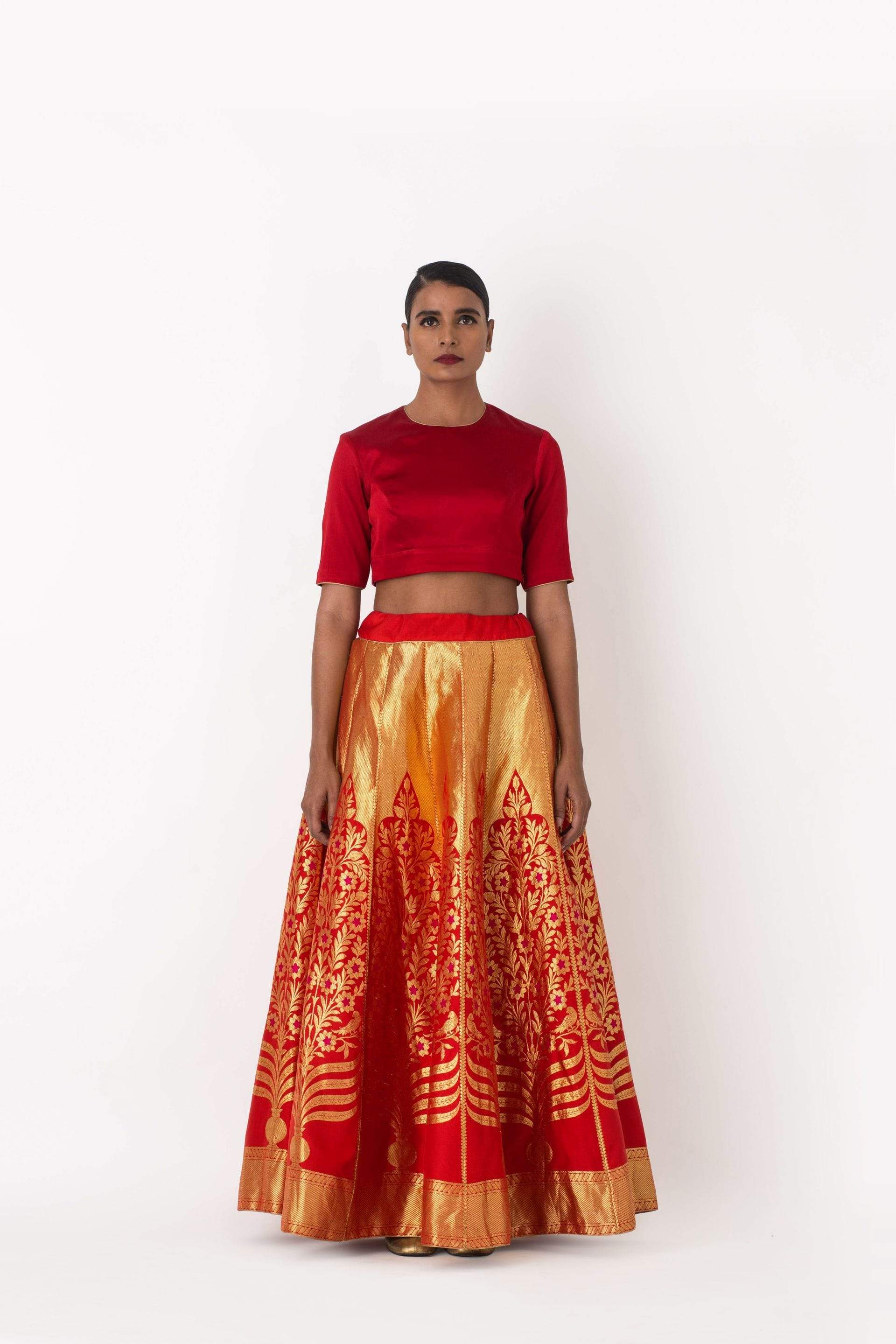 Raw Mango Light Lehengas Nohar & Polki brocade lehenga set