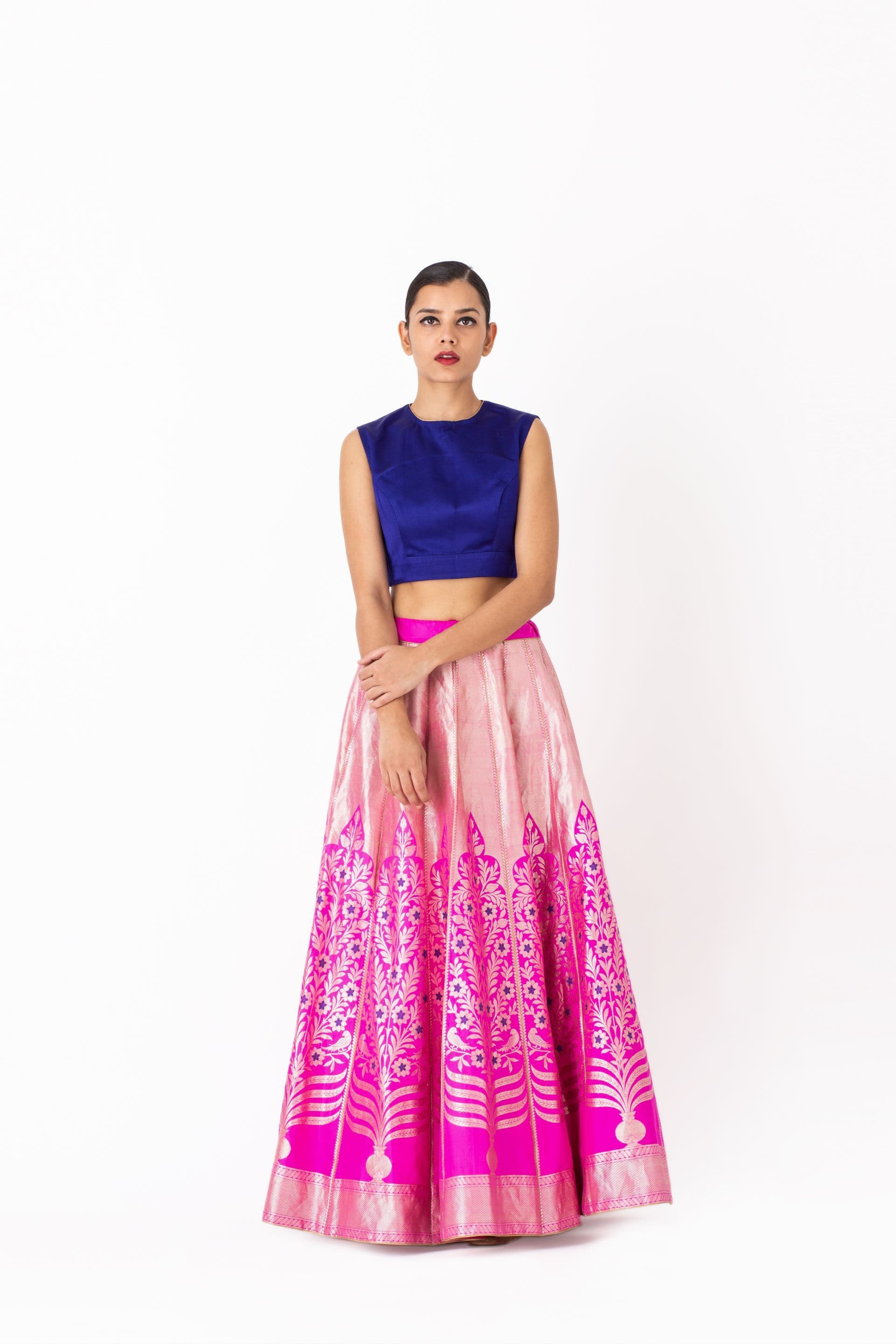 Raw Mango Light Lehengas Polki & Zaida brocade lehenga set