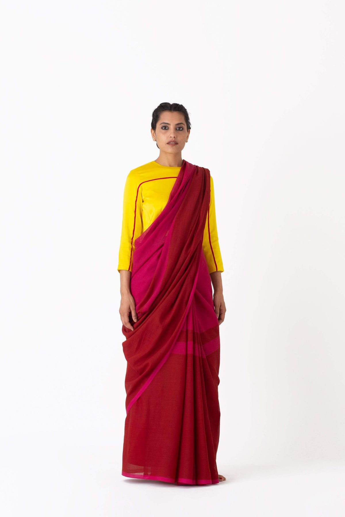 Raw Mango Sarees FS Salma rani-red cotton saree
