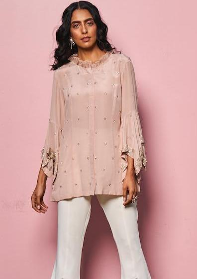 Rococo Shirts & Tops Embroidered bell sleeves top