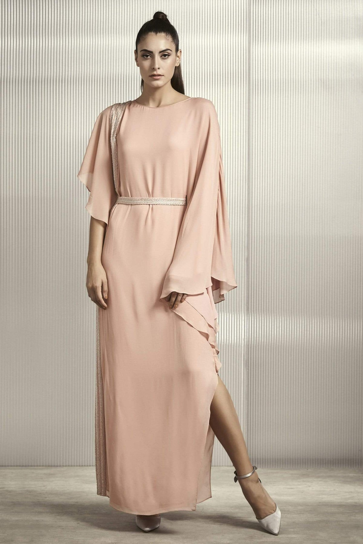 Rohit Gandhi + Rahul Khanna Dresses Embellished gown with a belt