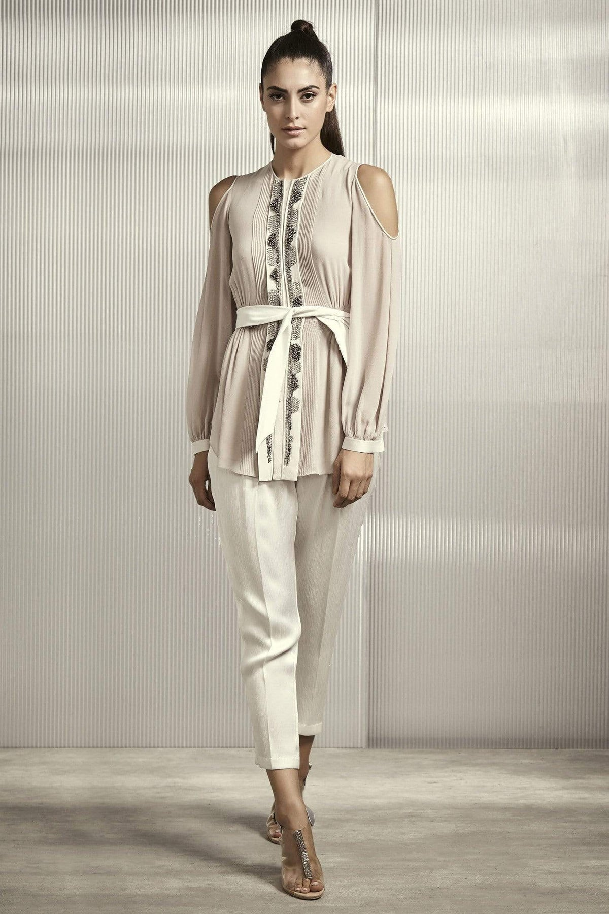 Rohit Gandhi + Rahul Khanna Shirts & Tops Cold shoulder polyester top