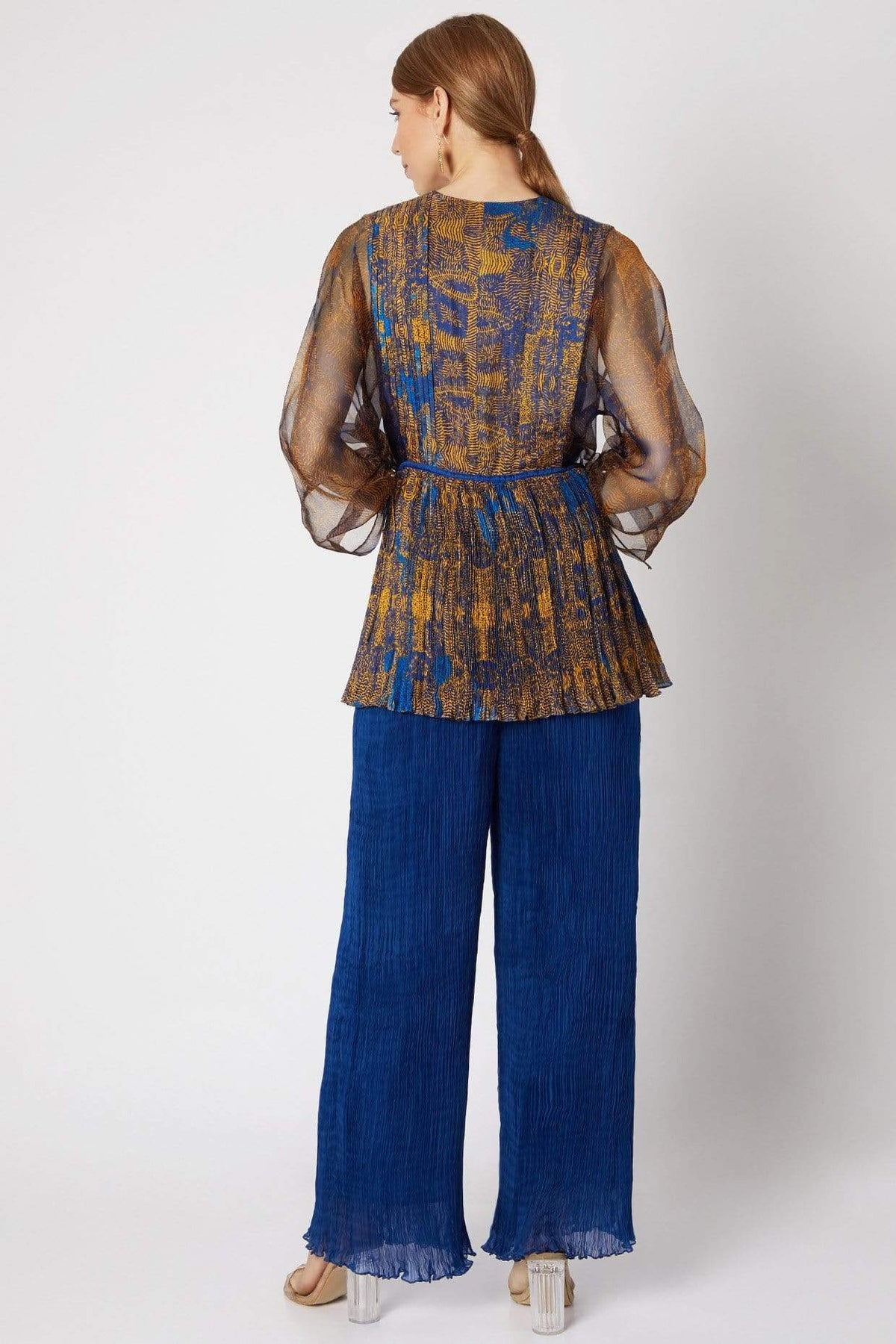 Saaksha & Kinni Shirts & Tops Blue top with abstract print