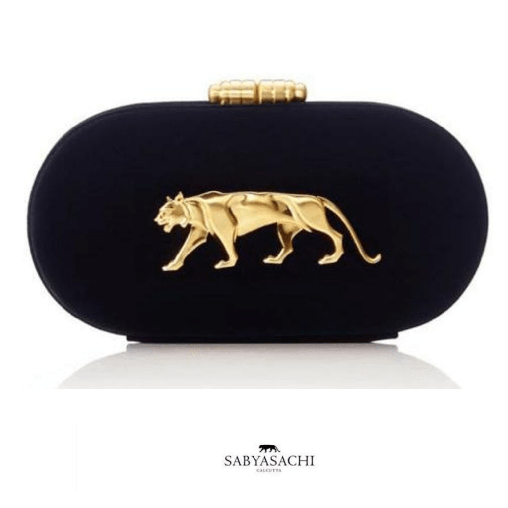 Sabyasachi Bags & Clutches Royal Bengal Tiger Black Velvet Clutch