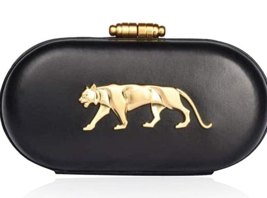 Sabyasachi Bags & Clutches The Royal Bengal Tiger Logo Clutch in Black