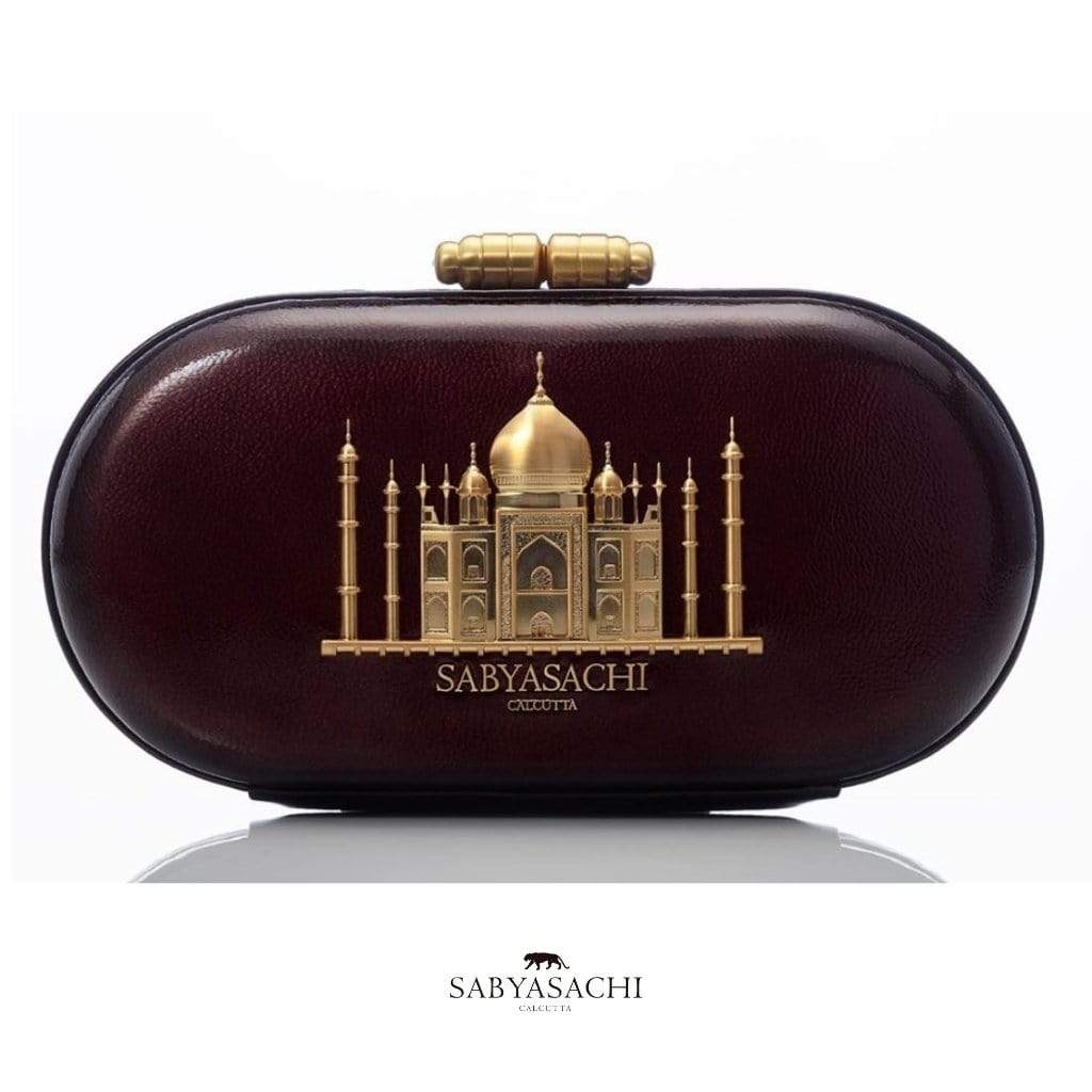 Sabyasachi Bags & Clutches The Taj Clutch in Cacao