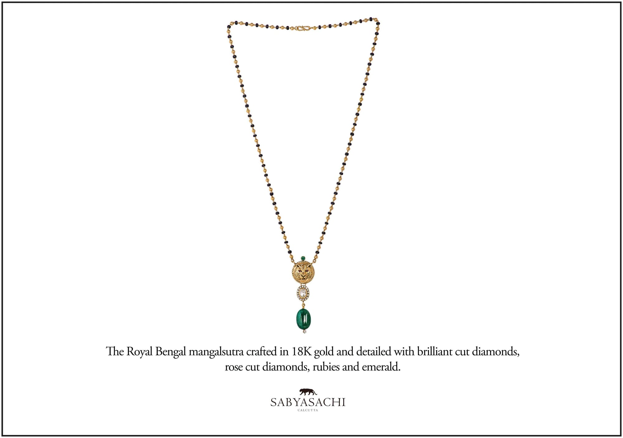 Sabyasachi Fine Jewellery 18K Gold Royal Bengal mangalsutra crafted