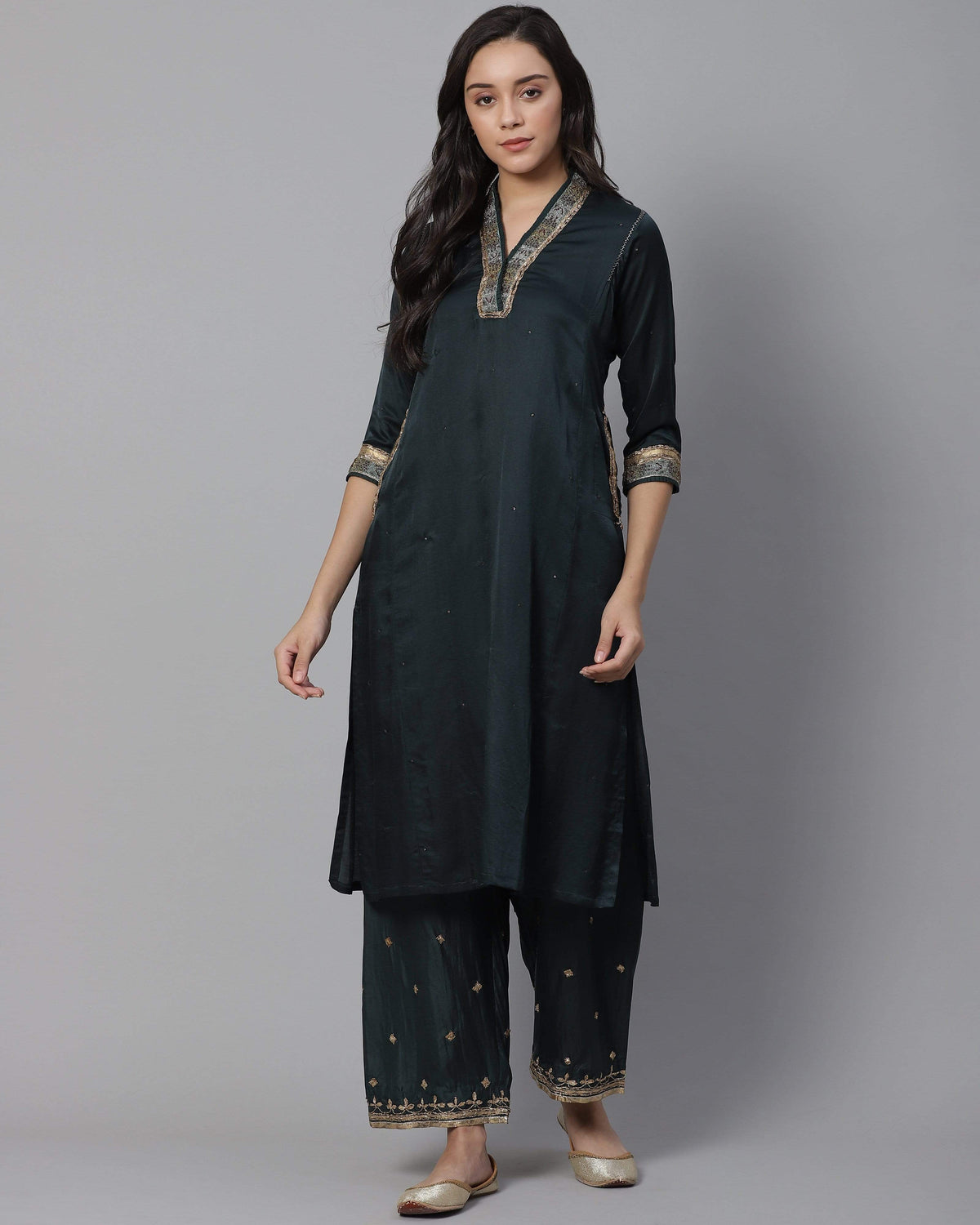 Shades of India Kurtas Fulkat kurta in silk