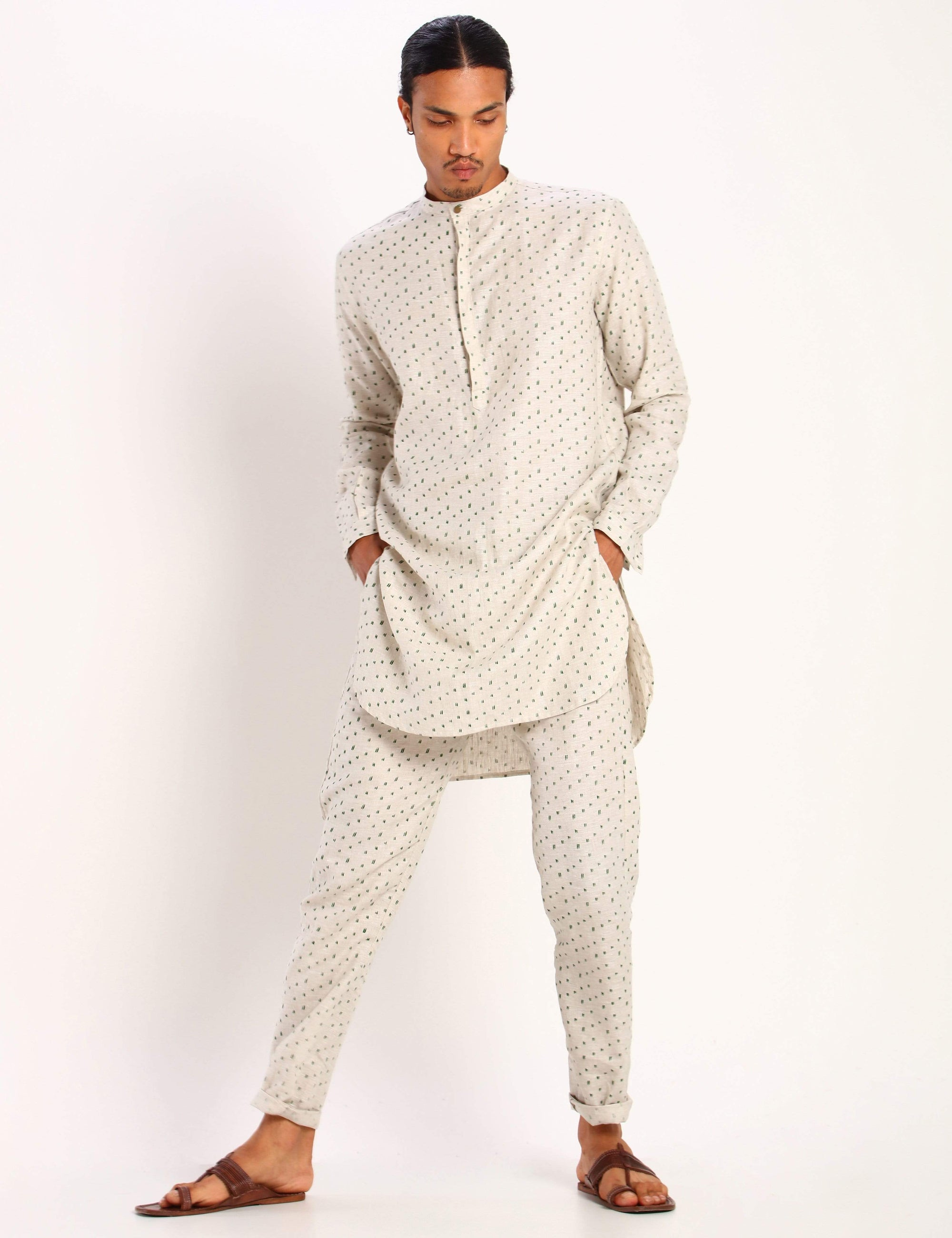 Son Of A Noble Mens Kurtas Sherwood - ivory- polka