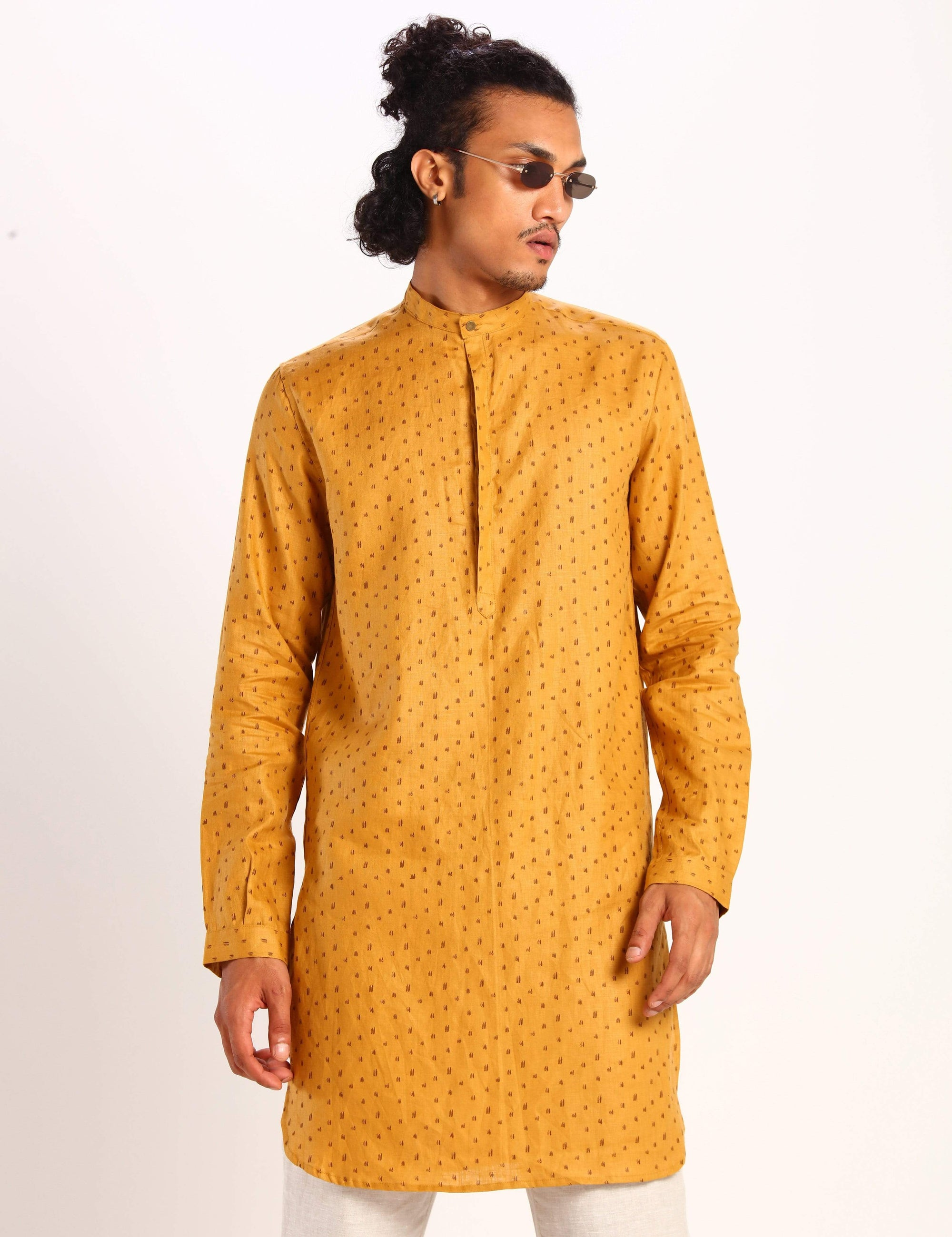 Son Of A Noble Mens Kurtas Sherwood - mustard - polka