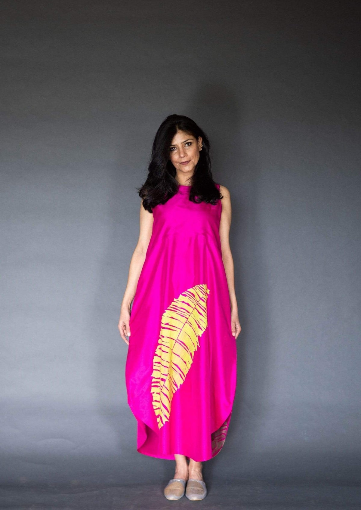 Taika by Poonam Bhagat Dresses Silk dress in hot pink