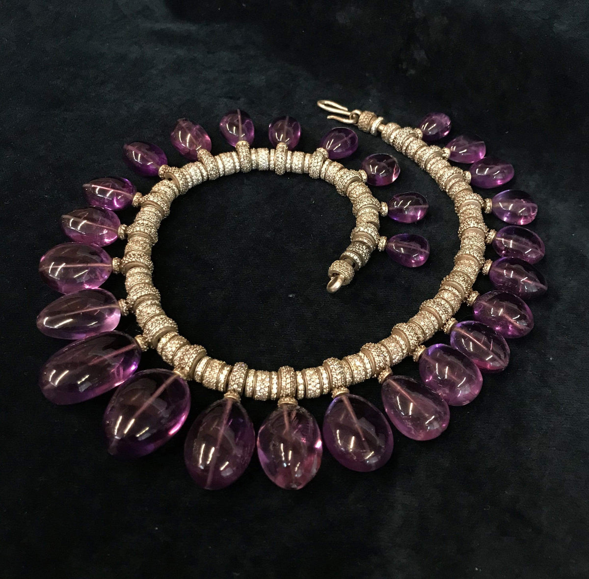 Tarun Tahiliani Necklaces Amethyst drops Necklace