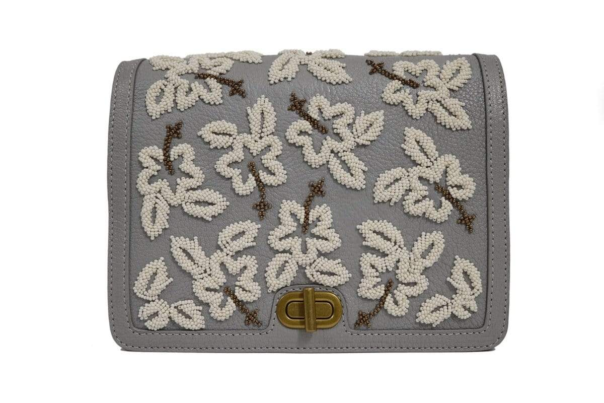 The Leather Garden Bags & Clutches FS Iris embellished clutch