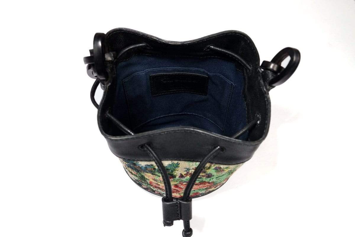 The Leather Garden Bags & Clutches FS Lilac black bucket bag