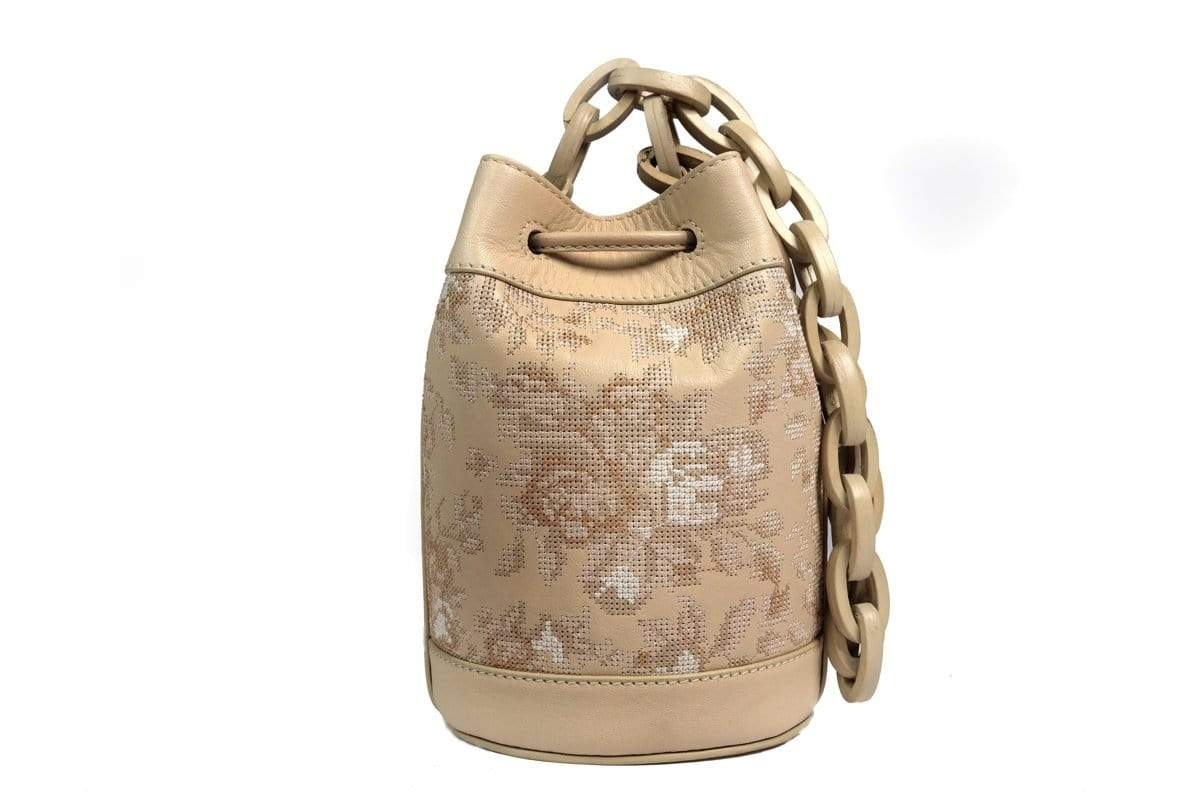 The Leather Garden Bags & Clutches FS Lilac ivory bucket bag
