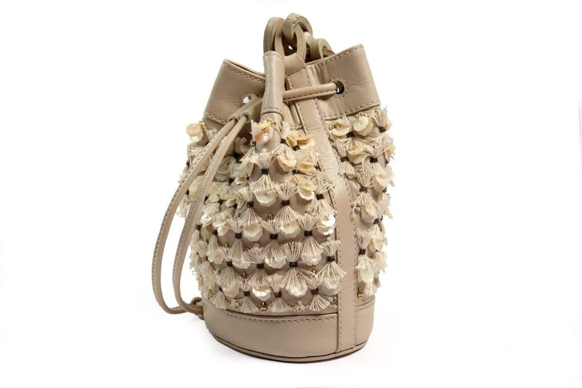 The Leather Garden Bags & Clutches FS Lilac pearl bucket bag