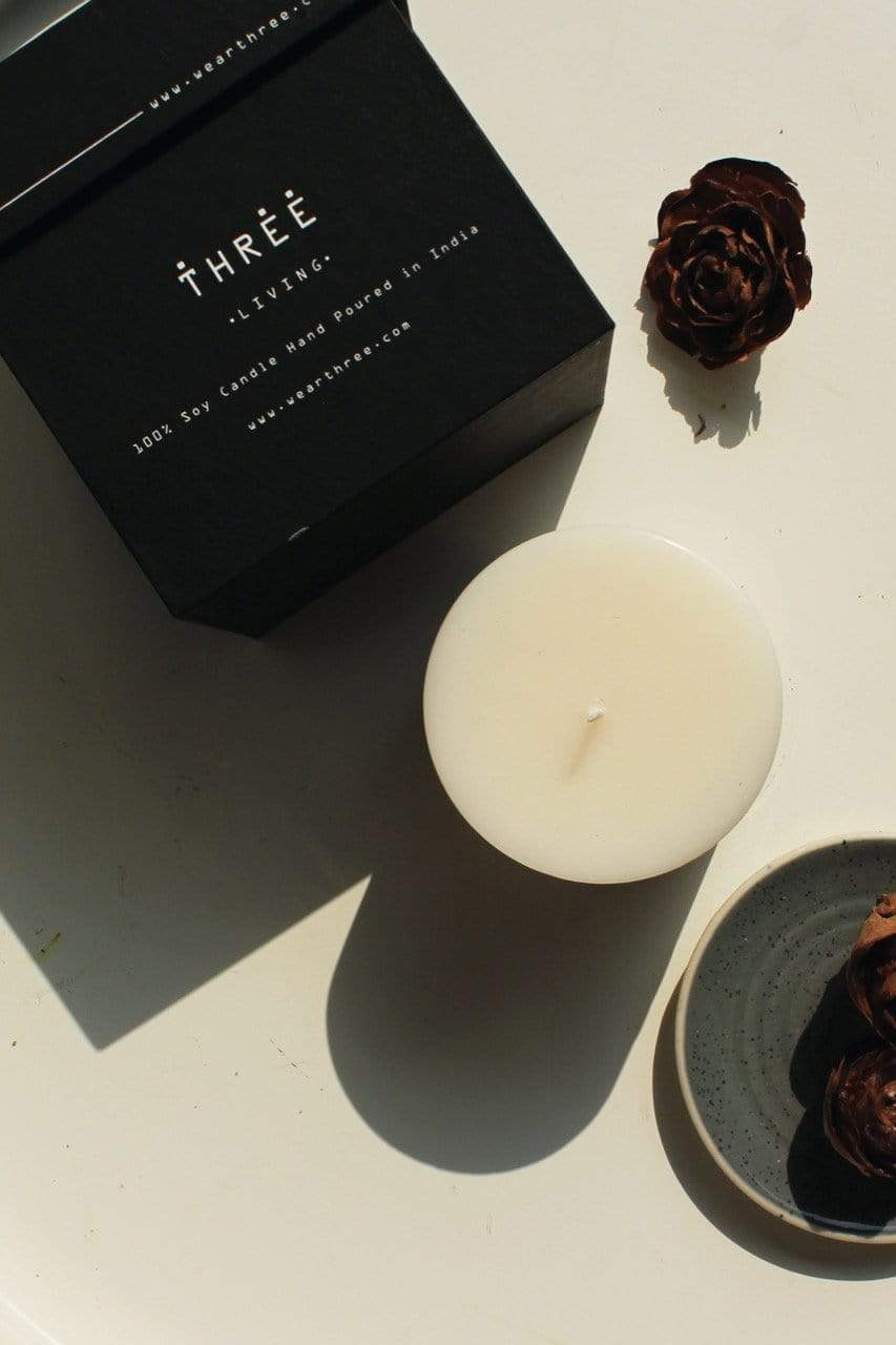 Three Gift Boxes Pillar candle