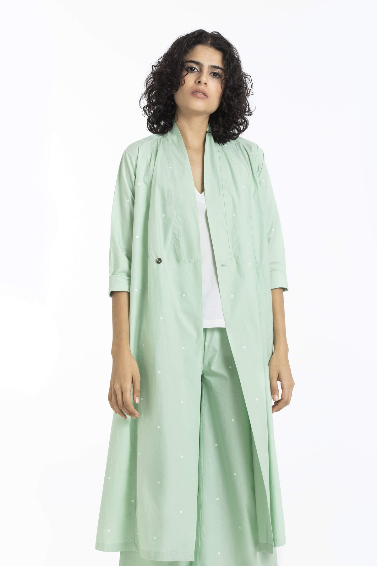Three Jackets Pure cotton poplin mint jacket
