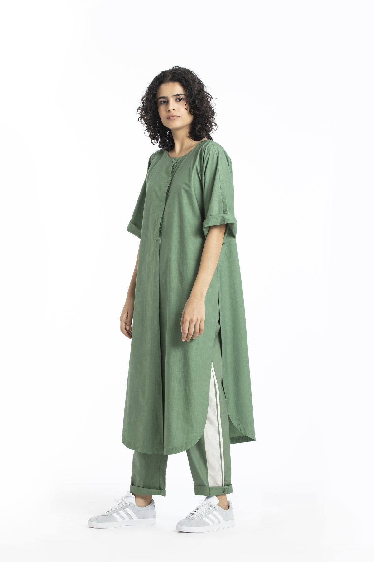Three Shirts & Tops Pure cotton poplin floor length top