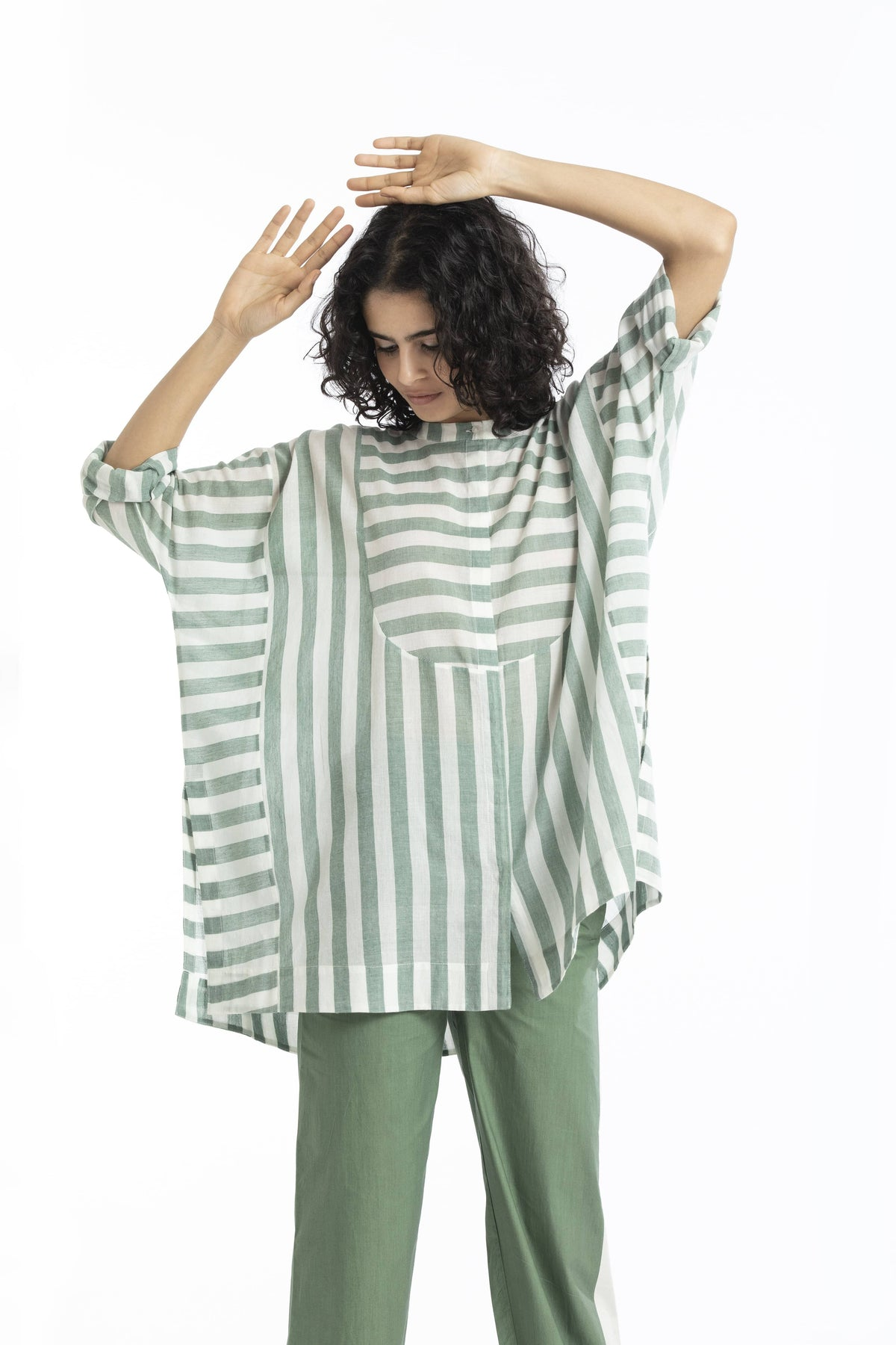 Three Shirts & Tops Striped top in handwoven cotton