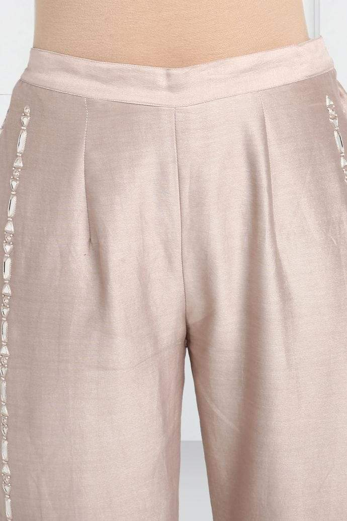 Twenty Nine Bottoms Taupe mirrorwork tassle pants