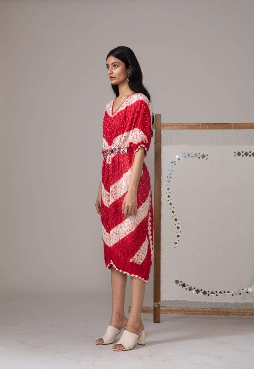 Twenty Nine Kaftans V shibori bandhani kaftan with mw belt