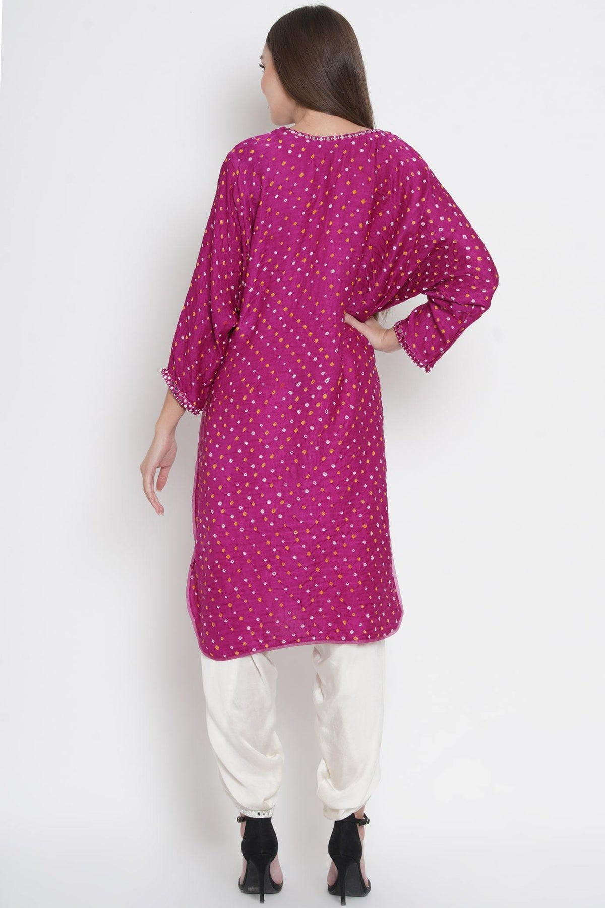 Twenty Nine Shirts & Tops Kimono sleeves tunic with mirrorwork